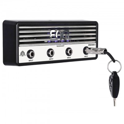 "New Pluginz ENGL ""Invader"" Amp Jack Rack Key Holder with 4 Guitar Plug Keychains 857443006072  183221446388"