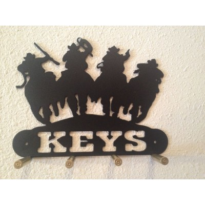 Sheriff Posse Key Holder With Bullet Casings, Made In USA, Real Steel!   121269520455