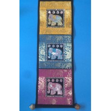 THAI ELEPHANT HAND EMBROIDE WALL HANGER MAIL LETTER BILL 3 POCKET HOLDER DECOR   262430066328