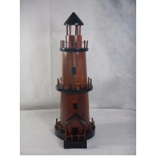 Vintage 100% Real Wooden Nautical Lighthouse Handmade RARE   113193412365