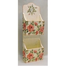 Wood Decoupage Mail Holder, Vintage Roses, Shabby Chic   183348853748