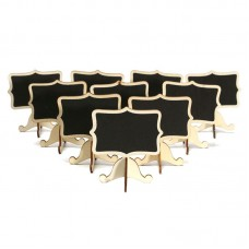 10 Pcs Mini Wooden Small Wedding Blackboard Message Table Number Chalkboard M9I2 192090237395  263575368604