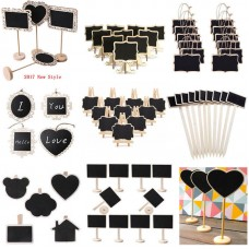10Pcs Wooden Chalkboard Blackboard Message Table Number Wedding Party Decor   332169907045