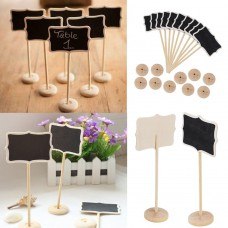 10X Mini Blackboard Chalkboard Rectangle With Angle Wedding Table Number Sign WK   153138090802
