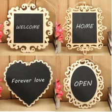 Fashion Hanging Wood Mini Blackboard Chalkboard Message Label Wedding Memo Sign   202354016725