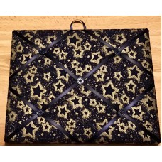 French Bulletin Board Photo Memo Board Navy Blue Gold Star Print 8 x 10 inches   273375039205