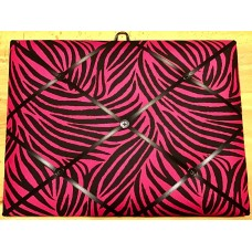 French Bulletin Board Photo Memo Board Pink Black Zebra Print 11.8 x 15.7 inches   273383875399
