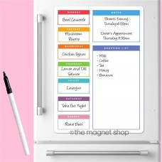 Magnetic Weekly Meal Planner Memo Board Whiteboard Fridge A3 Family Prep Diet   232842976346