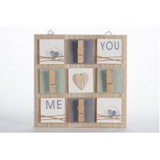 Wooden Clip Board Photo Message Memo Note Holder Shabby Hanging Pegs Sign 5060568600284  122838535420