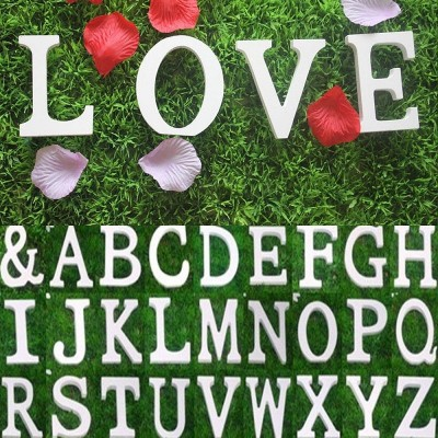 26 Large Wooden Letters Alphabet Wall Hanging Wedding Party Home Shop Decoration   163016921987