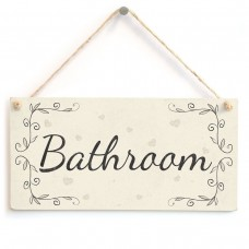 Bathroom - French Shabby Chic Style PVC Home Decor Door Sign / Plaque   222635955050