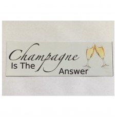 Champagne Drink Sign Wall Plaque Door Kitchen Bar Shabby Chic    302255045525