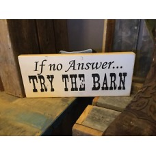 If No Answer Try The Barn Sign Decor   173472007709