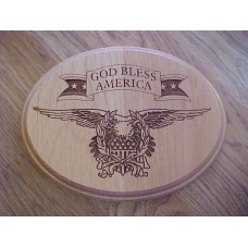 "NEW Laser Engraved Wood ""God Bless America"" Plaque/Sign   113202602331"
