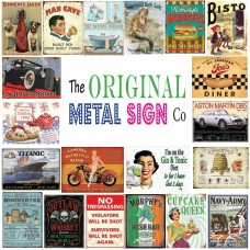 Original Metal Sign Co. Illustrated Vintage Metal Wall Sign in Various Designs   253160446798