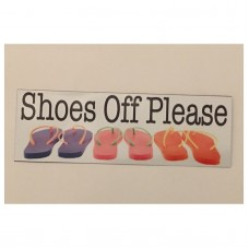 Shoes Off Please Sign Front Door Thongs Welcome Wall Plaque or Hanging Beach     292045926535