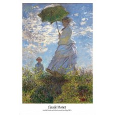 Claude Monet - A Woman With Umbrella Impressionism Poster Print (36x24in) #52141 4047253521414  173470821605