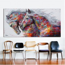 Colourful Horse Canvas Print Art Oil Painting Wall Picture Home Decor Unframed   202292551717