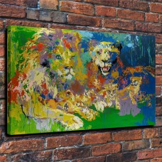 "LeRoy Neiman""Proud lion king"" Canvas HD Prints Painting Wall Art Home Decor   173315885277"