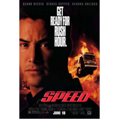 Speed Movie POSTER 27 x 40 Keanu Reeves, Sandra Bullock, A, LICENSED, USA, NEW   182594515117