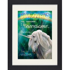 Unicorns - I Am Awesome Fantasy Fun Framed Collector Poster (16x12in) #114173 4060942300602  173470740560