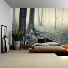 Wall26 - Vintage Like of a Mysterious Forest Wall - CVS - 66x96 inches   113200438704