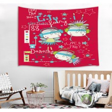 Cartoon Element Bedspread Home Tapestry Kids Room Dorm Art Decor Wall Hanging   132743932676