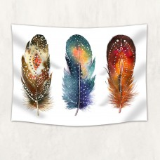 Colored feathers Tapestry Wall Hanging for Living Room Bedroom Dorm Decor    262981184629