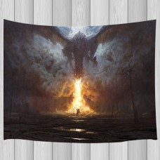 Flying dragon and knight Tapestry Wall Hanging for Living Room Bedroom Decor   263852456162