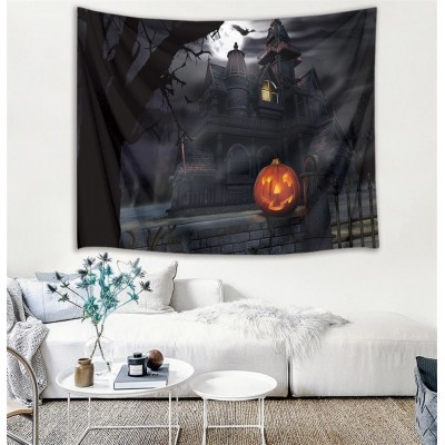 Halloween Witch's Castle Wall Hanging Tapestry Livingroom Sheet Bedspread Decor   362414296031