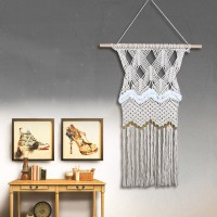 Natural Cotton Handmade Macrame Tassel Wall Hanging Hand Knitted Woven Tapestry   153139914424