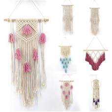 Natural Cotton Handmade Macrame Tassel Wall Hanging Hand Knitted Woven Tapestry^   223013706949