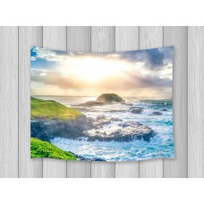 Ocean Coast Island Sunshine Print Tapestry For Living Room Dorm Wall Hanging Rug   253814741307