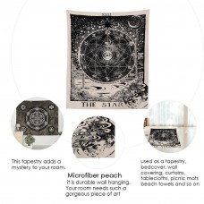 Stylish Divination Sun Star Moon Living Bedroom Decoration Wall Hanging Tapestry   253815377059