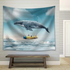 wall26 - Take Me to the Dream - Fabric Wall Tapestry Home Decor - 68x80 inches   123310045441