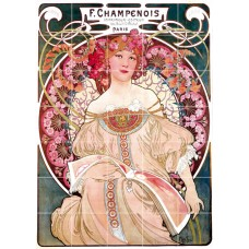 21.25 x 29.75 Art Nouveau Alphonse Mucha Ceramic Mural Backsplash Bath Tile #611   181128557769