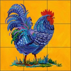 Ceramic Tile Mural Backsplash Libby Southwest Rooster Art SLA036   111942608270