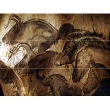 Prehistoric Art Altamira Animals Mural Travertine Backsplash Bath Tile #2358   181995514002