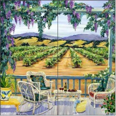 Vineyard Tile Backsplash Walker Art Ceramic Mural POV-CWA006   113002891413