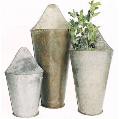 Three Piece Metal Wall Buckets   112397353859