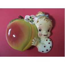 VHTF Vintage PY Baby Girl w/Peach Fruit Wall Pocket  EXCELLENT CONDITION!!!   283075535913
