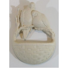 Vintage Burwod Homco Syroco Wall Hanging Planter Birds Wicker 1978 2187   263858778790