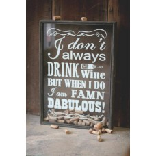 Wine Cork Frame Wall Wood Shadow Box for Corks or Caps Wine Cellar Bar Decor   371276153761
