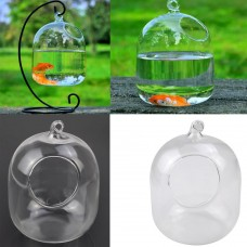 Clear Flower Hanging Vase Planter Terrarium Container Glass Home Garden Decor   232012321782