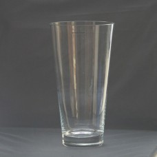 Gorgeous Vintage Large Clear Glass Vase - Handmade in Poland   112658491685
