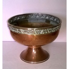HAMMERED COPPER & BRASS PLANTER - JARDINIERE  - ART DECO - DECORATIVE - L@@K   232706400294