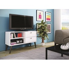 Accentuations by Manhattan Comfort Practical Dalarna TV Stand with 2 Open She... 7899579410685  123284336062