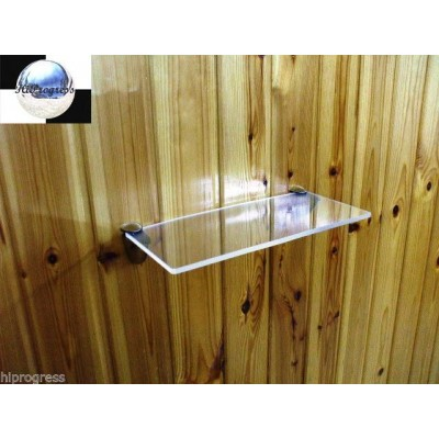 Clear Acrylic Plexi-glass Bathroom Kitchen Wall Hanging Floating Shelf Shelves   232871599356