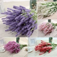 12 Heads Lavender Bouquet Artifical Plastic Flowers Home Decoration Wedding New   222484180925