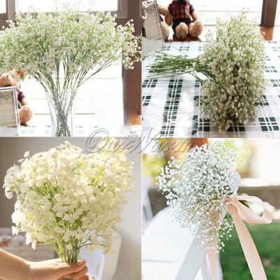 12×Baby Breath/Gypsophila Artificial Fake Silk Plant Real Touch Flower DIY Decor   183301706627